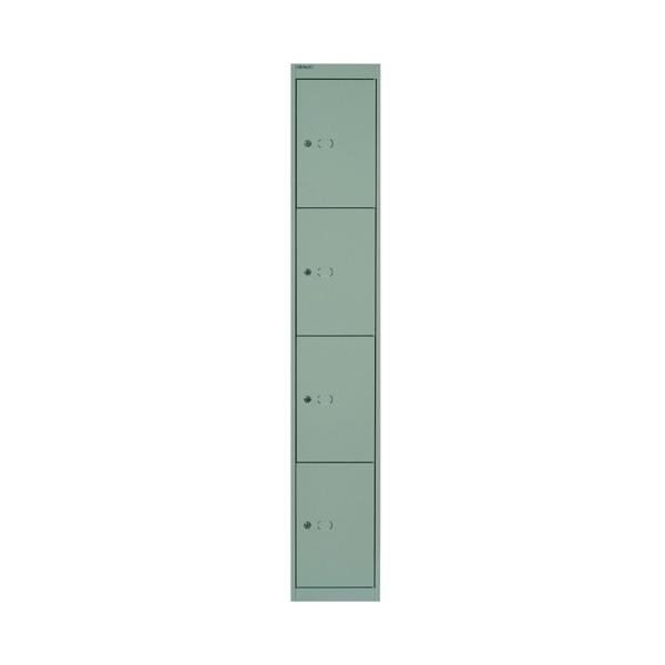 Bisley 4 Door Locker D457mm Goose Grey
