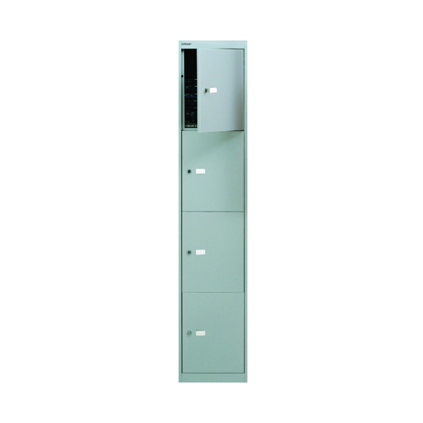 Bisley 4 Door Locker D305mm Goose Grey BY09213