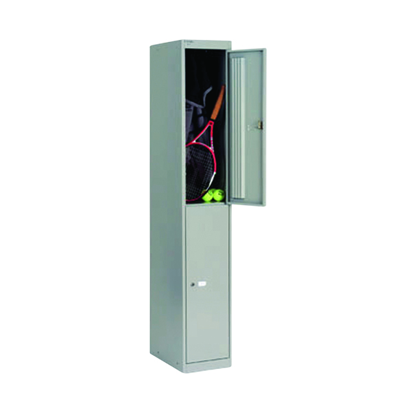 Bisley 2 Door Locker D457mm Goose Grey