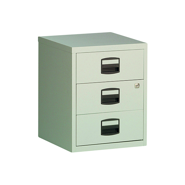 Bisley 3 Drawer A4 Home Filer Grey