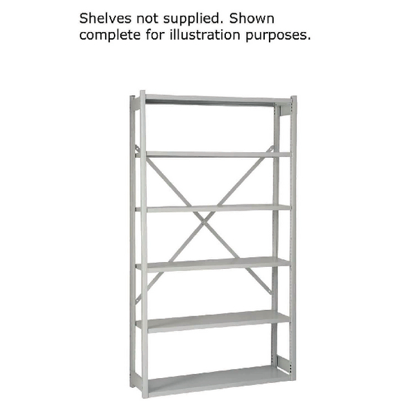 Bisley Shelving Starter Kit W1000xD300mm Grey 1018ESSTK30-AT4