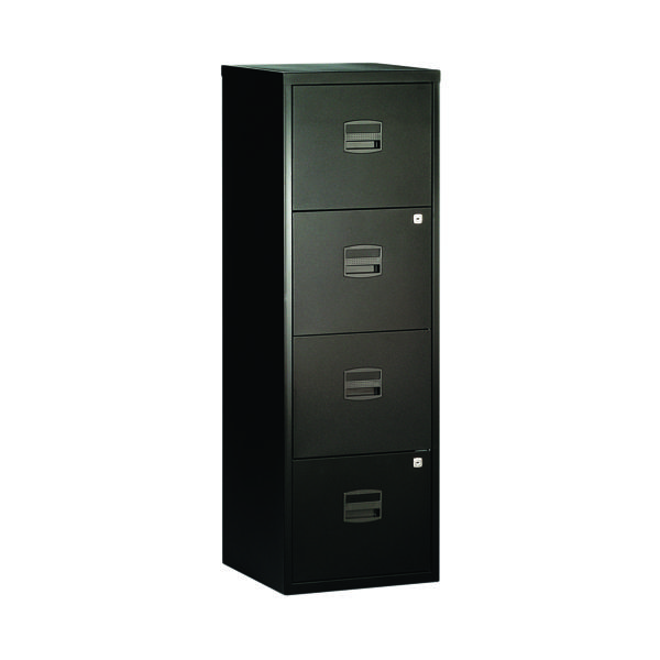 Bisley 4 Drawer A4 Home Filer Black