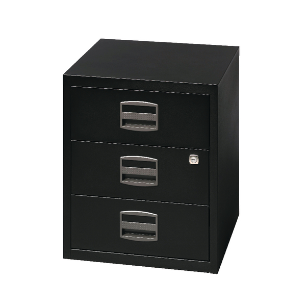 Bisley 3 Drawer A4 Home Filer Black