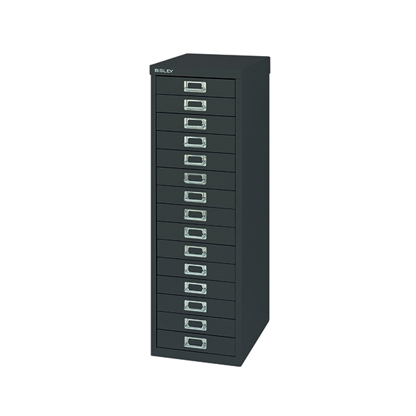 Bisley 15 Drawer Cabinet Black