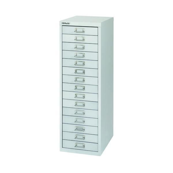 Bisley 15 Drawer Cabinet Silver BY58420