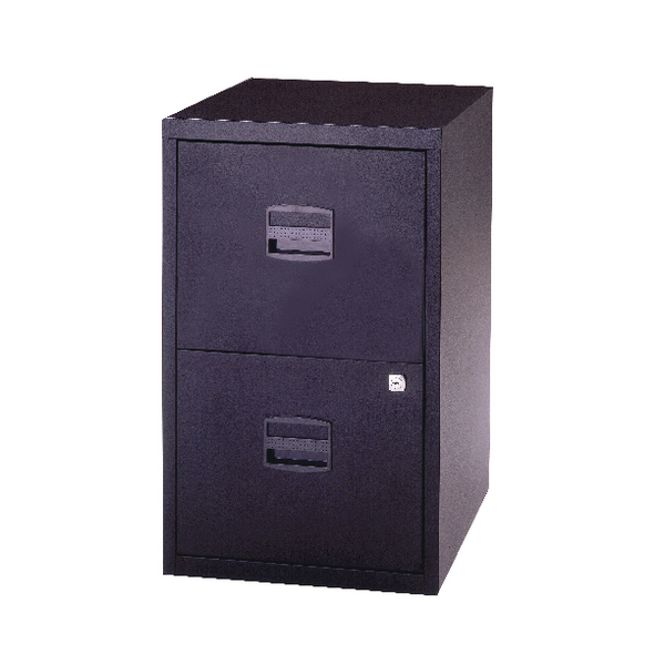 Bisley 2 Drawer A4 Home Filer Black PFA2-03