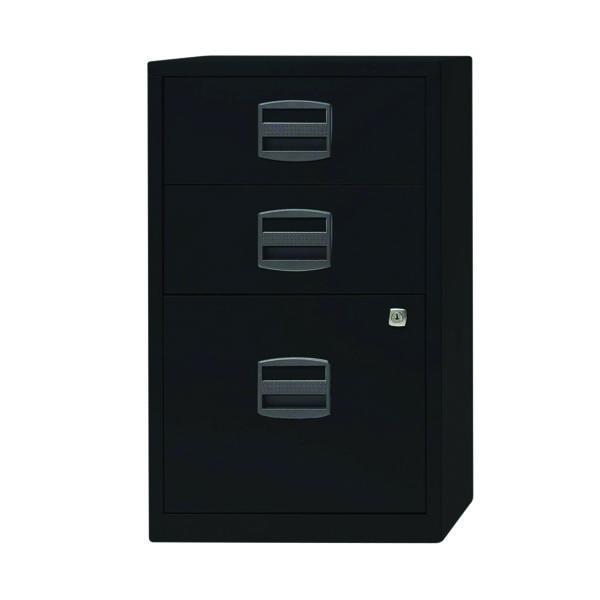 Bisley 3 Drawer A4 Home Filer Black PFA3-93