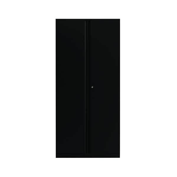 Bisley 2 Door 1970mm Cupboard Empty Black (Dimensions: W914 x D470 x H970mm) KF78717