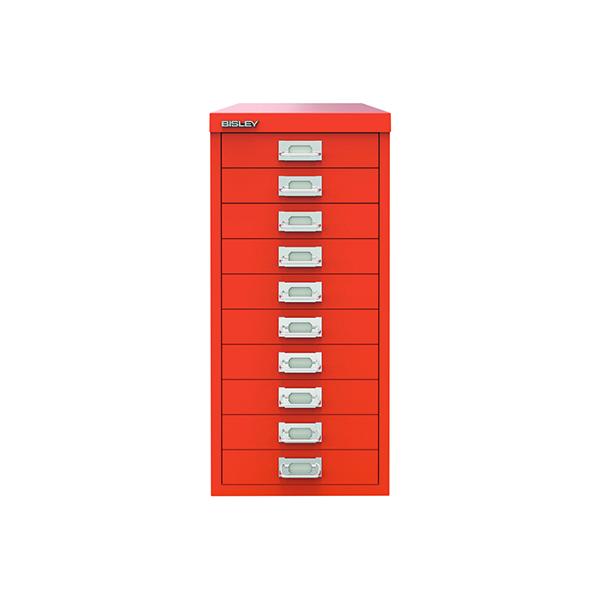 Bisley 10 Drawer Cabinet Mandarin