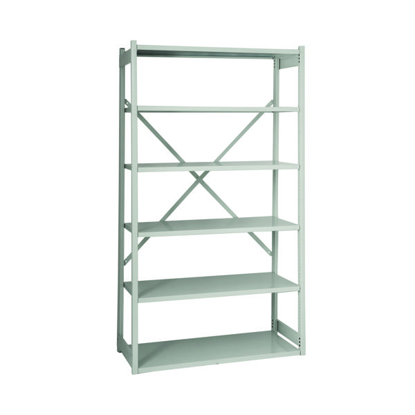 Image for Bisley Shelving Starter Kit W1000xD300mm Grey BY838030