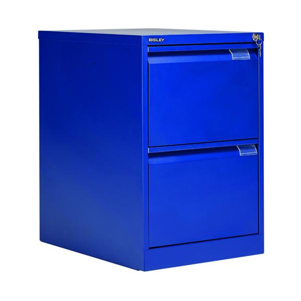 Bisley BS2E Filing Cabinet Flush Front 2D Lock Blue BS2E/BLUE