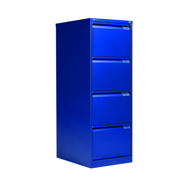 Bisley BS4E Filing Cabinet Flush Front 4D Lock Blue BS4E/BLUE
