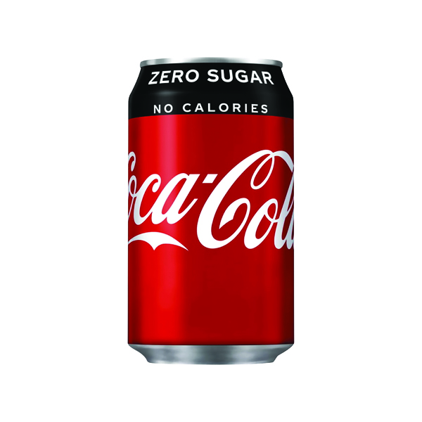24 x Coke Zero Soft Drink 330ml Can(Gluten, dairy and nut free) 402003