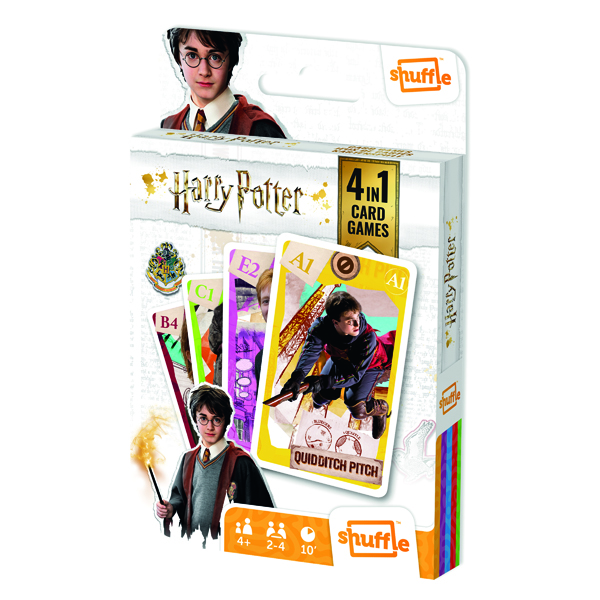 Shuffle Harry Potter 4-in-1 Card Game (Pack of 12) 108542998