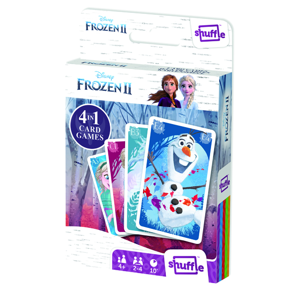 Image for Shuffle Disney Frozen II 4-in-1 Card Game (Pack of 12) 108547998
