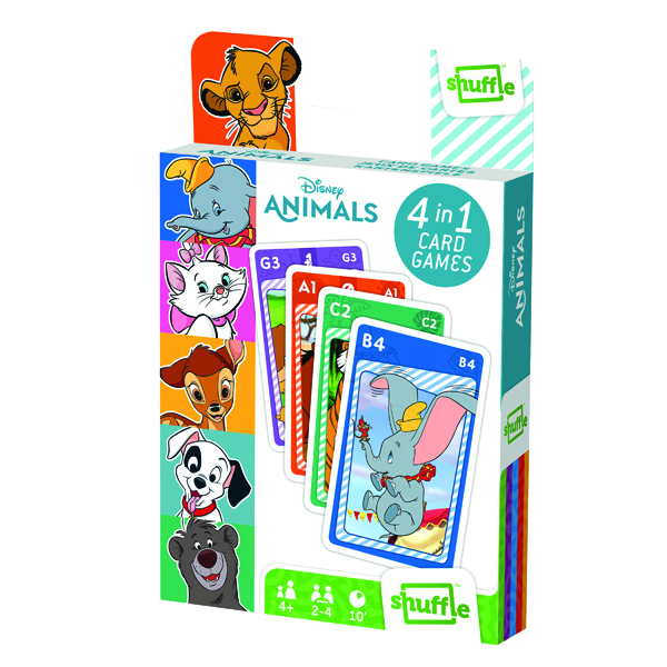 Image for Shuffle Disney Animals 4-in-1 Card Game (Pack of 12) 108549998