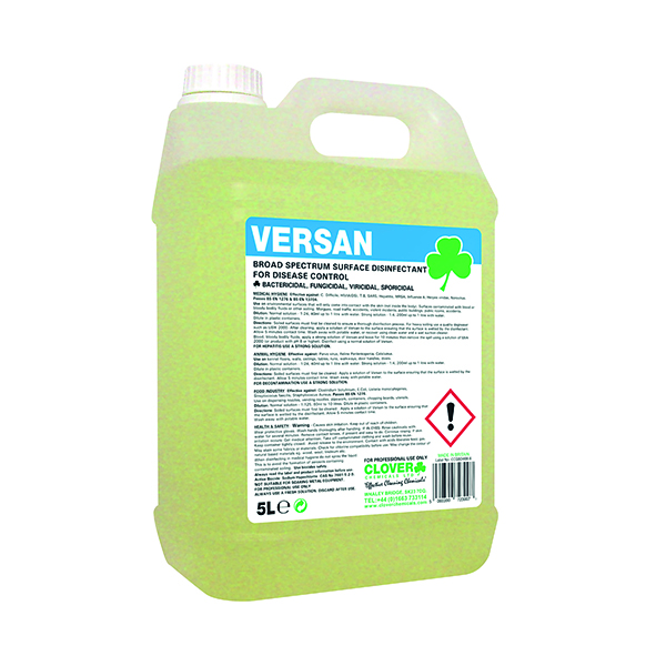 Clover Versan Broad Spectrum Surface Disinfectant 5 Litre 260