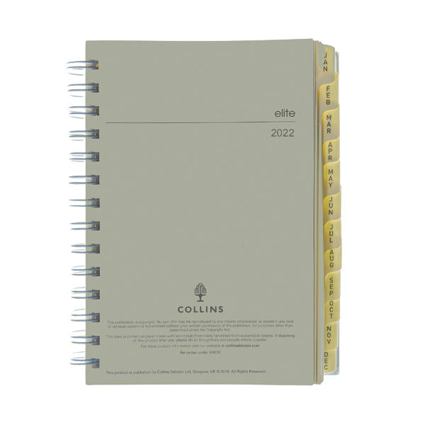 Collins Elite Compact Day Per Page Refill 2022 1140R
