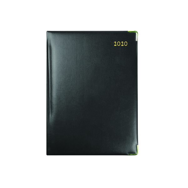Collins Classic Diary Manager Day Per Page Appointment 2020 Black 1200V