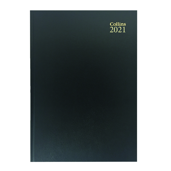 Collins Desk Diary Week to View A5 Black 2021 35