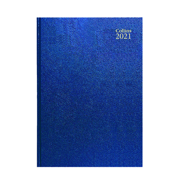Collins Desk Diary Day Per Page A4 Blue 2021 44