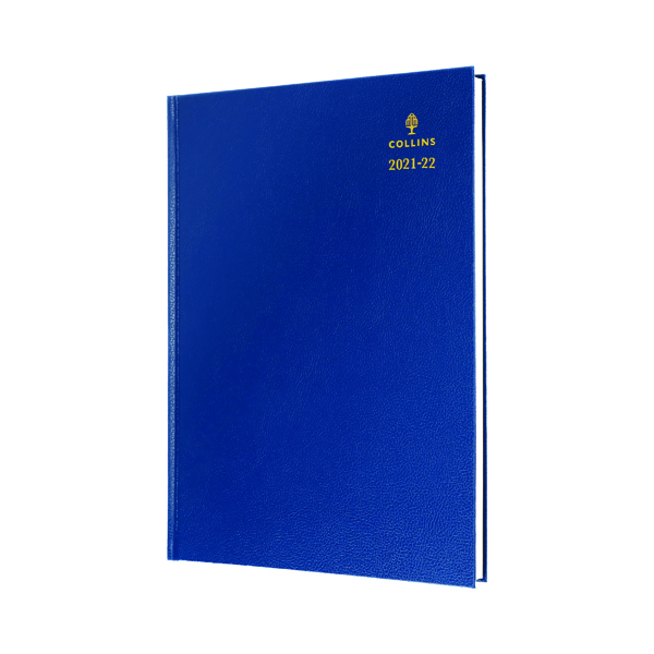 Collins Academic Diary Day Per Page A4 Blue 2021-22 44MBLU