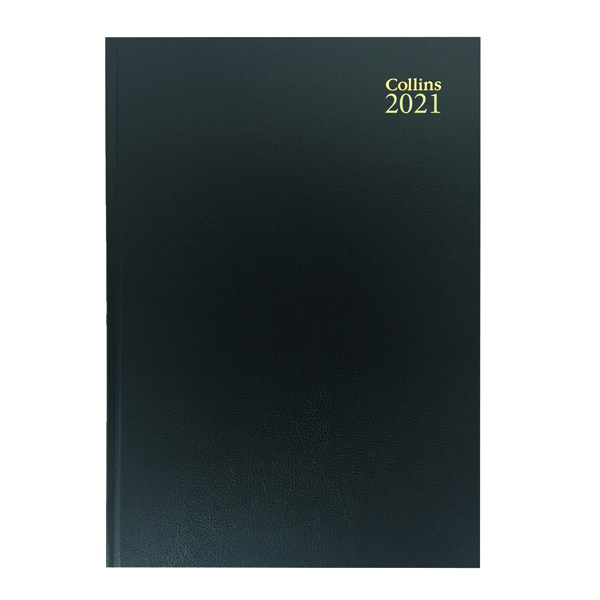 Collins Desk Diary 2 Pages Per Day A4 Black 2021 47