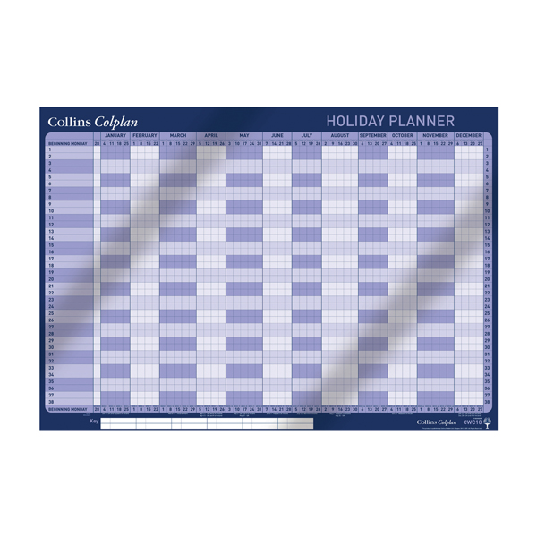 Collins 12 Month Holiday Planner 2020 (594 x 840mm) CWC10