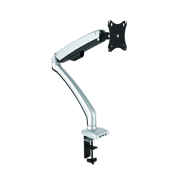 Contour Ergonomics Single Monitor Arm Black/Silver