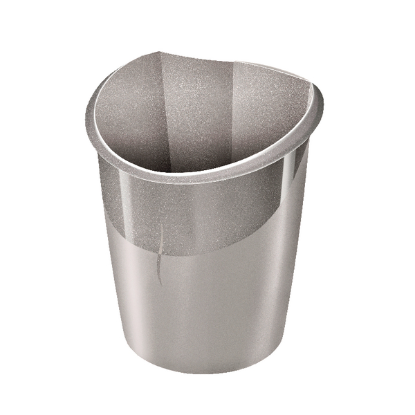 CEP Ellypse Xtra Strong Waste Bin 15 Litre Taupe 1003200201