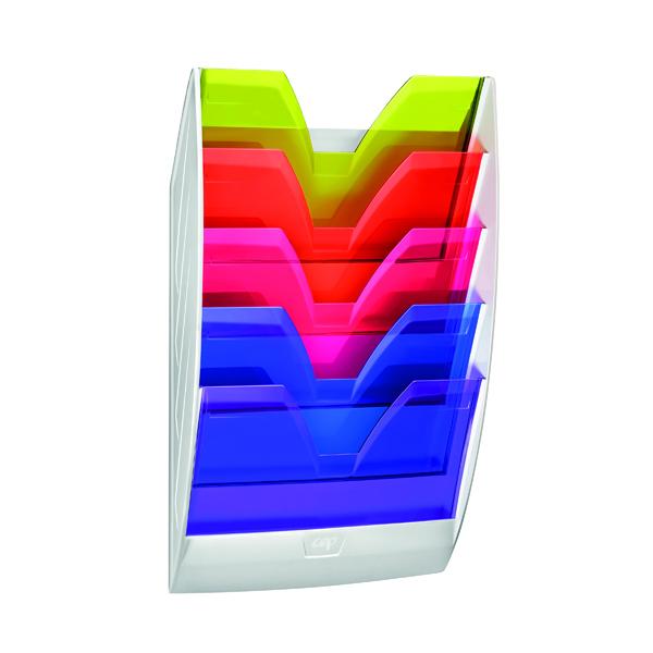 CEP Wall File 5 Compartment Rainbow Multicolour 154HM