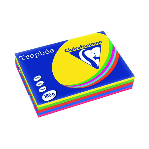 Trophee Card A4 160gm Intensive Assorted (Pack of 250) 1713C