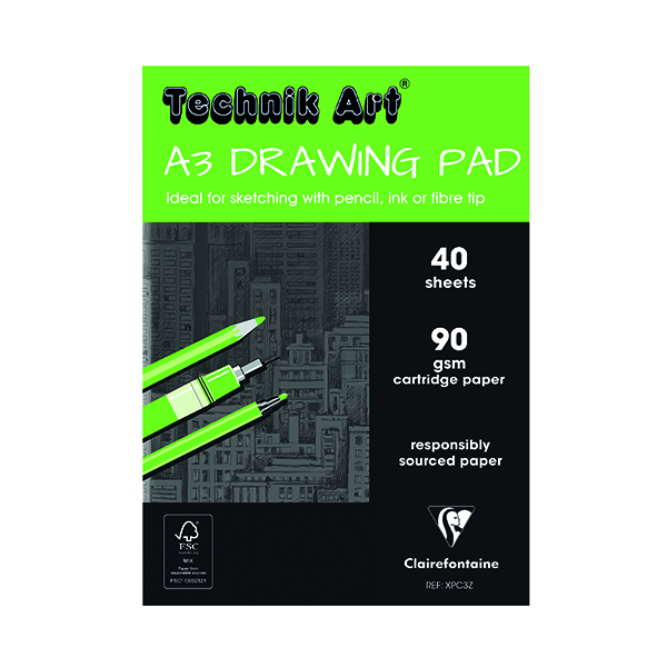 Technik Art Drawing Pad A3 90gsm XPC3