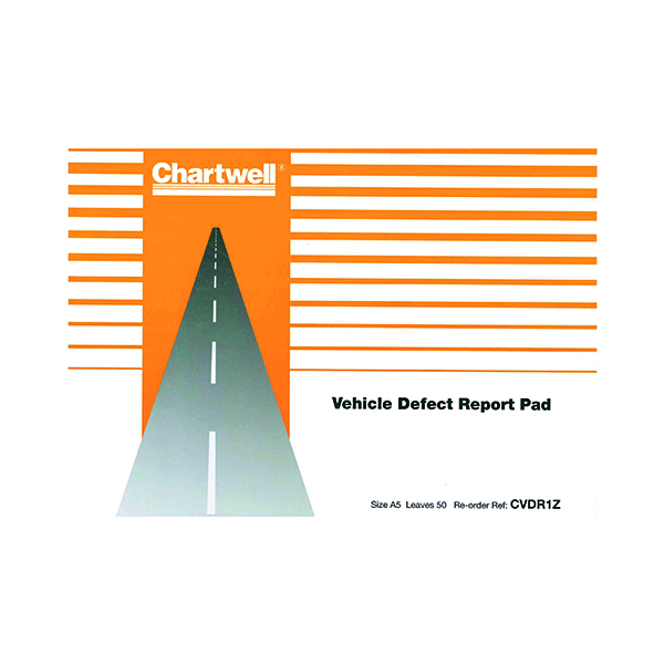 Image for Exacompta Chartwell Vehicle Defect Report Pad CVDR1