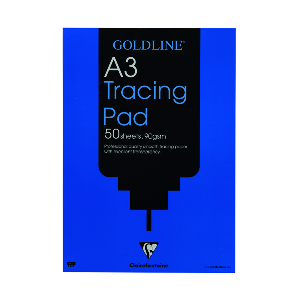 Clairefontaine Goldline Professional Tracing Pad 90gsm A3 50 Sheets GPT1A3