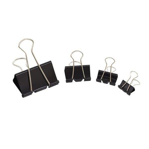 Initiative Foldback Clips 51mm Black Pack 10