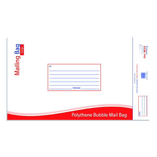 Bubble Mailing Bag Large 290x440mm (Pack of 10) OBS427