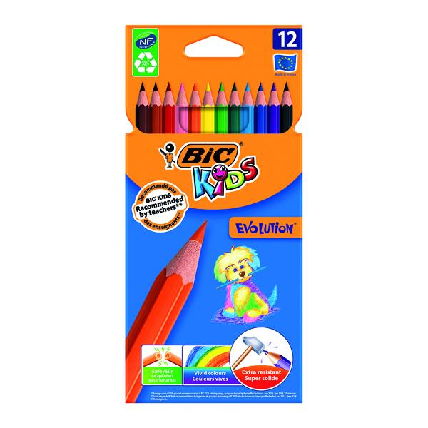 Image for Bic Kids Evolution Ecolutions Pencils Assorted (Pack of 12) 829029