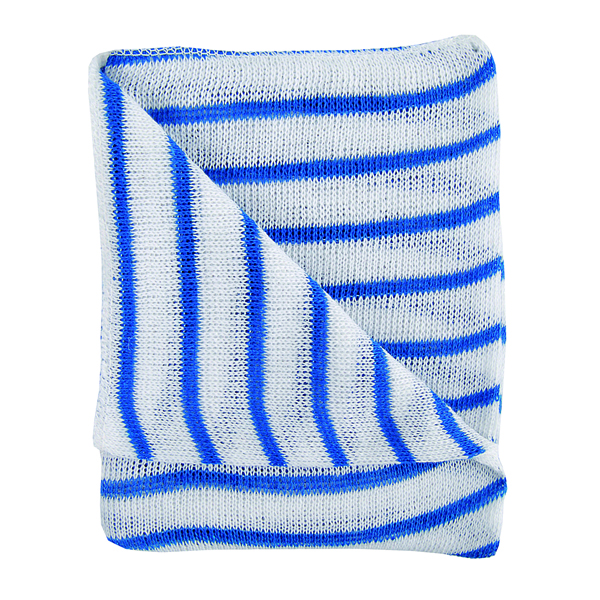 Hygiene Dishcloths 406x304mm Blue/White (Pack of 10) 100755BU