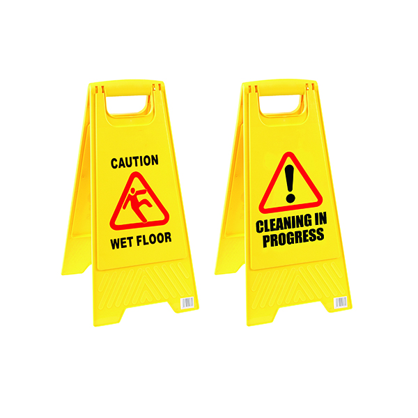 Image for 2Work Caution Folding Safety Sign Yellow 101423