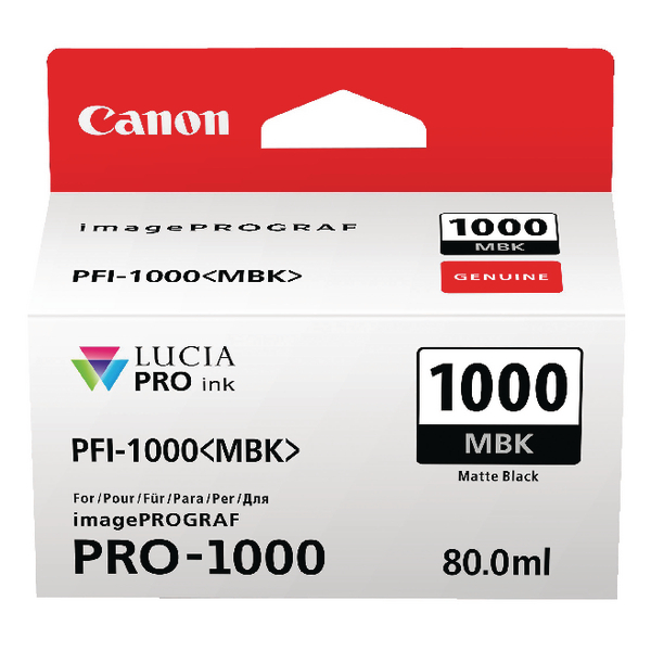 Canon Pro-1000 Matte Black Ink Tank 0545C001