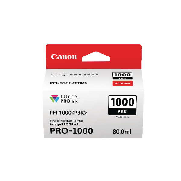 Canon Pro-1000 Photo Black Ink Tank 0546C001