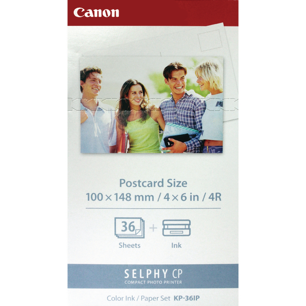 Canon KP-36IP SELPHY Colour Inkjet Cartridge and Papers CO04703