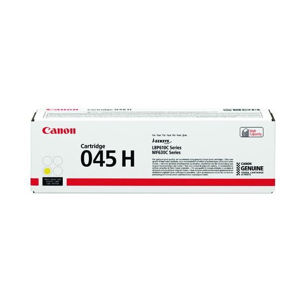 Canon 045H Yellow High Capacity Laser Toner Cartridge 1243C002