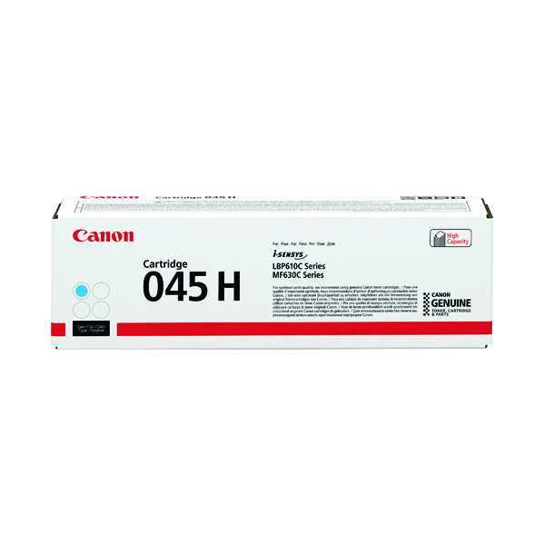 Canon 045H Cyan High Capacity Laser Toner Cartridge 1245C002