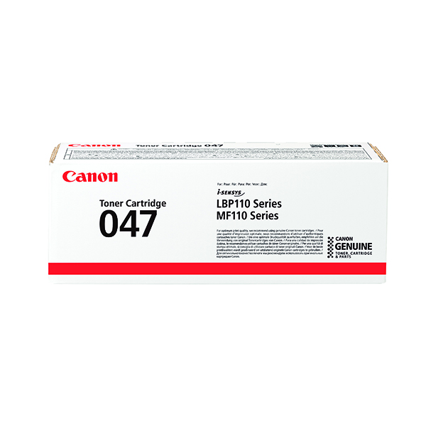 Canon CRG 047 Black Toner Cartridge (1,600 Page Capacity) 2164C002