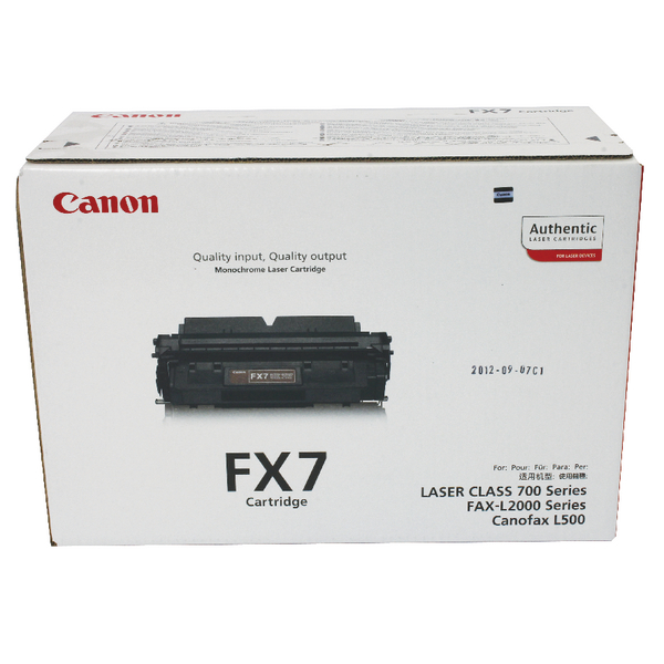 Canon FX7 Black Toner Cartridge 7621A002