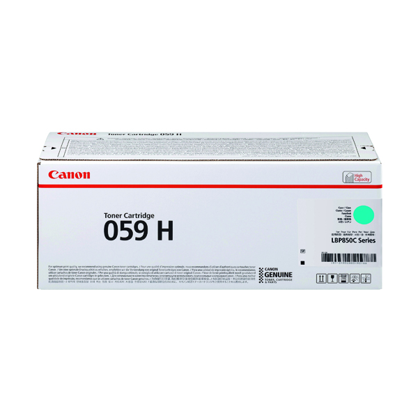 Canon 059H Cyan High Yield Laser Toner Cartridge 3626C001