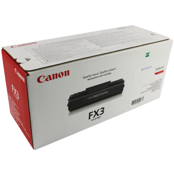 Image for Canon FX3 Black Toner Cartridge 1557A003