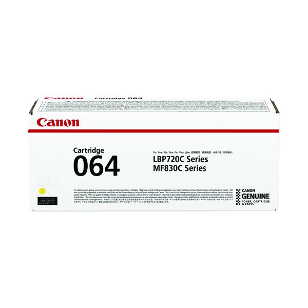 Canon Cartridge 064 Yellow Laser Toner Cartridge 4931C001